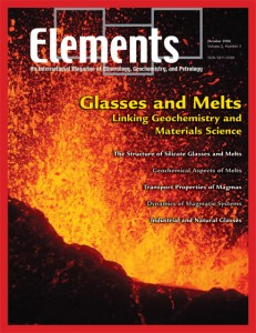 GHOctober Issue of Elements on melts and glasses