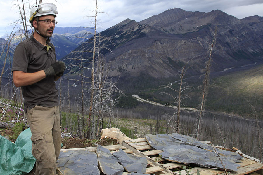 Jean-Bernard in the field in Kootenay National Park (summer 2014)