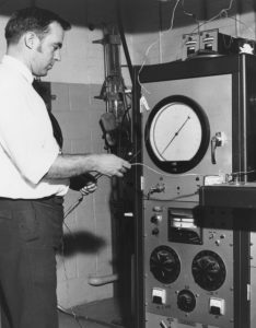 photo of Jeff in the High Pressure Lab 1964